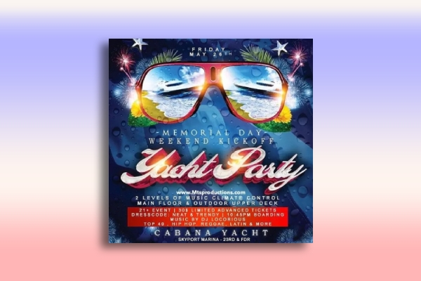 memorial day yacht party
