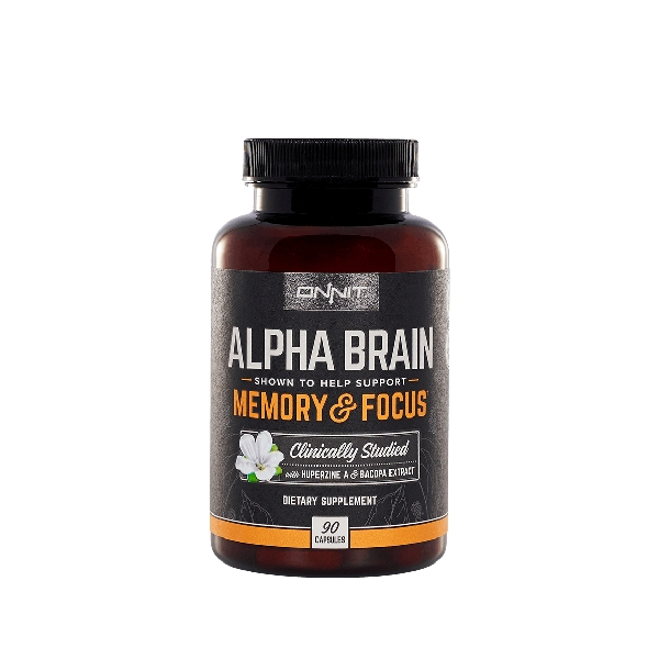 memory and focus pill bottle label