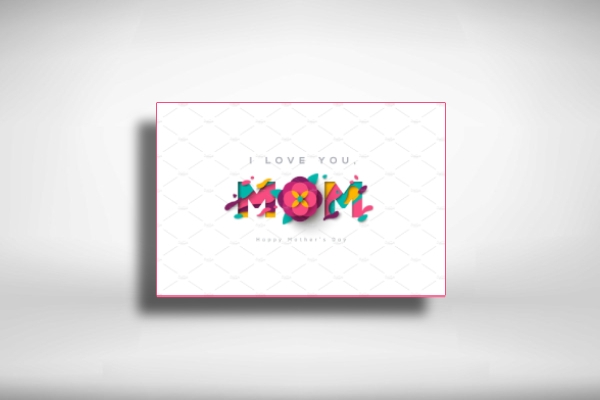 minimalist mothers day greeting card