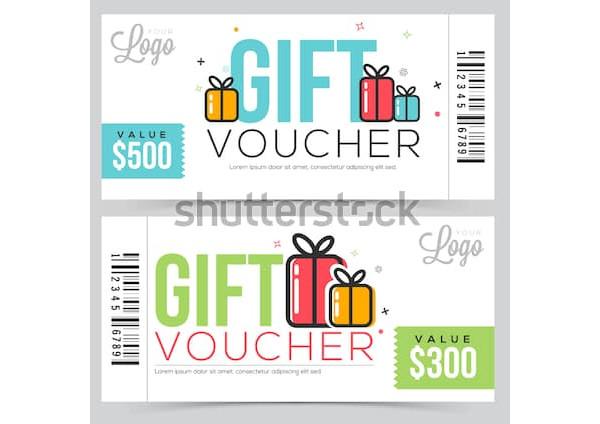 modern event gift voucher