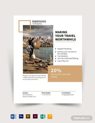 modern travel flyer template