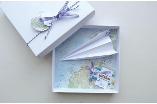 money gift packaging travel voucher