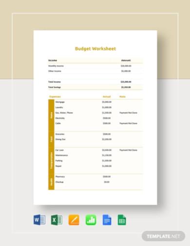 monthly budget worksheet1