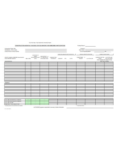 monthly construction invoice