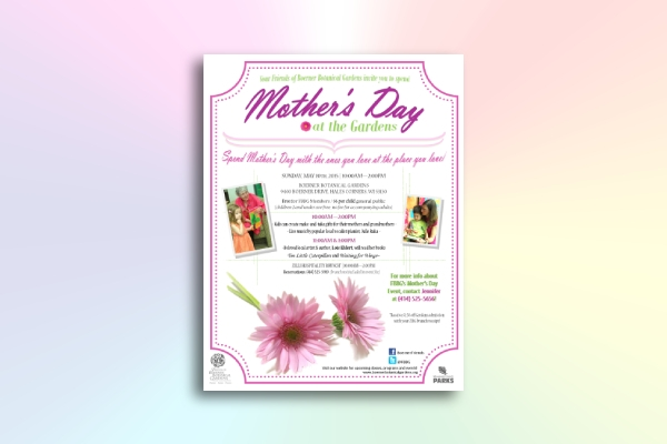mother's day family event flyer