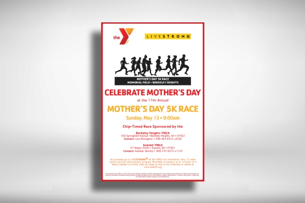 mothers day 5k race poster
