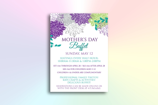 mothers day buffet flyer