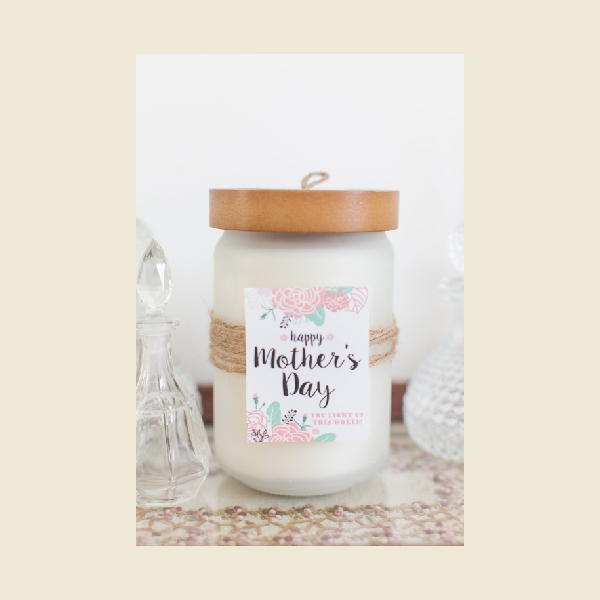 mothers day candle label
