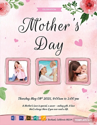 mothers day celebration flyer