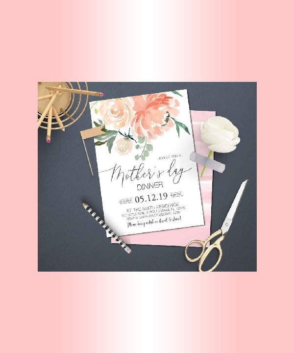 mothers day dinner party invitation
