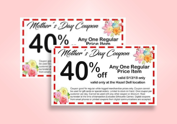 mothers day discount coupon