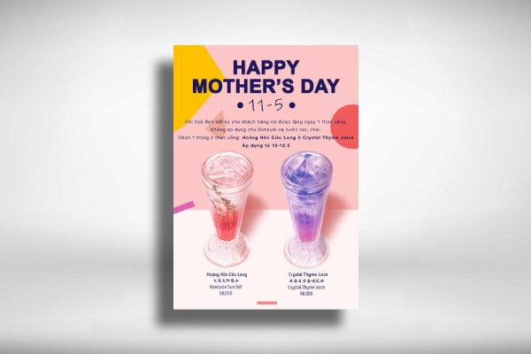 mothers day drink poster