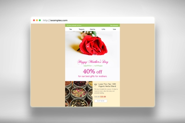 mothers day email template wishes for beverage coffee