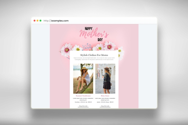 mothers day email template for fashion