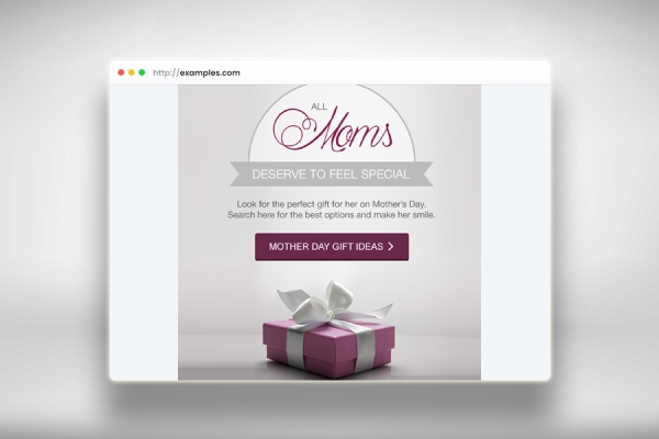 mothers day gift offer email