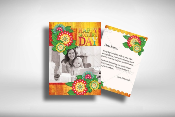 mothers day greeting card with image
