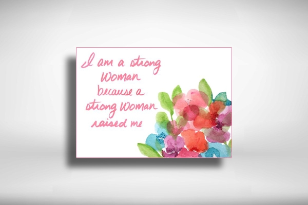 mothers day greeting card with quotes