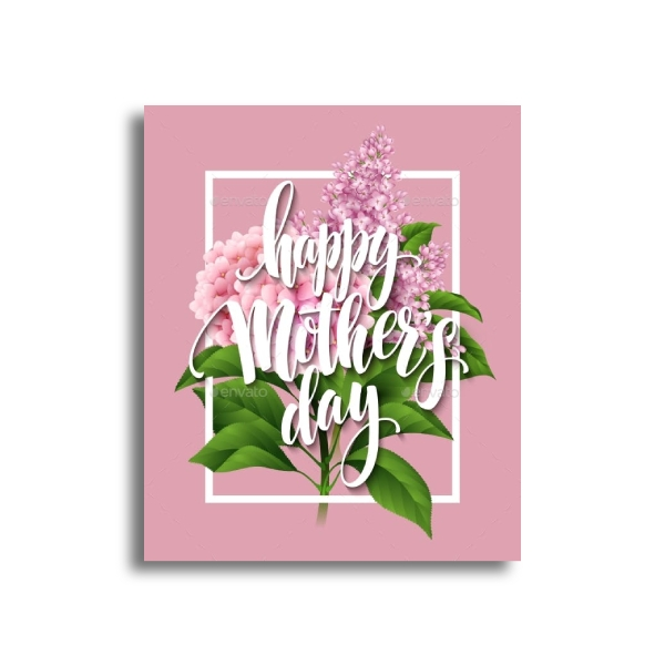 mothers day handlettered card