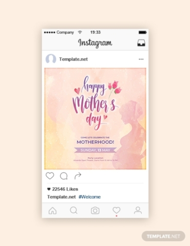mothers day instagram post