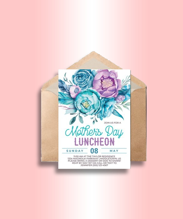 mothers day luncheon invitation