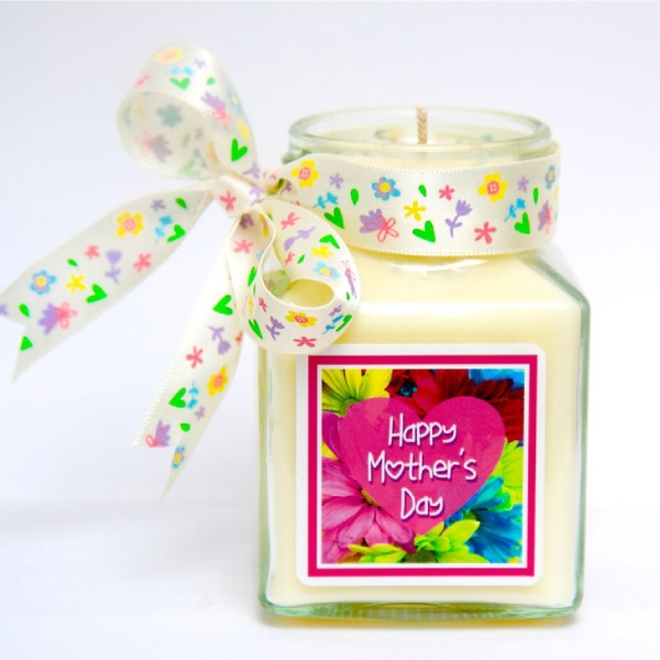 mothers day scented candle label