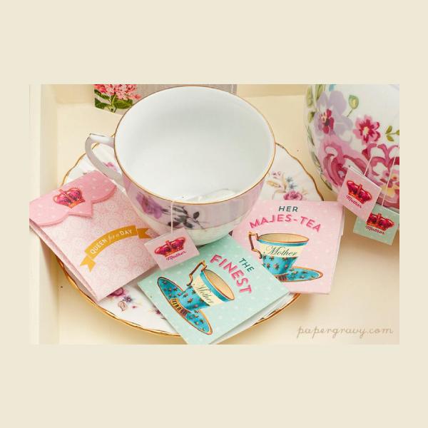 mothers day tea bag label