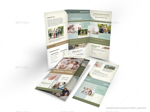nursing home trifold brochure