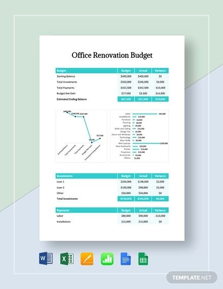 office renovation budget template