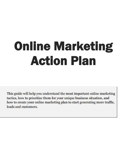 online marketing action plan
