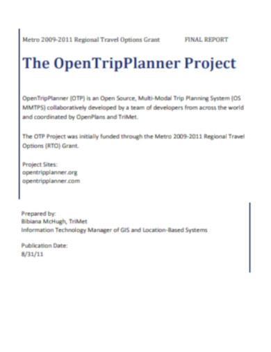 open trip planner project