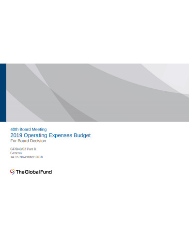 operating expenses budget