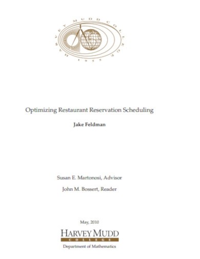 optimizing restaurant reservation scheduling