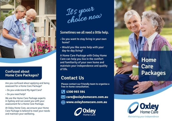 oxley home care trifold brochure