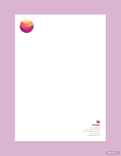 painting contractor letterhead