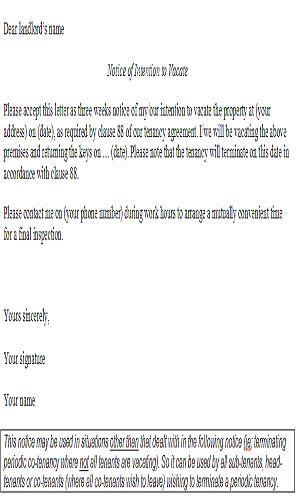 periodic tenancy termination letter