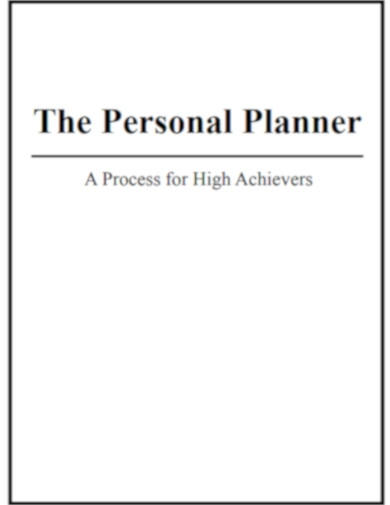 personal planner for high achievers