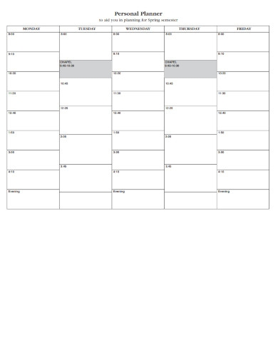 personal planner in pdf