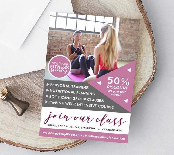 personal training marketing leaflet