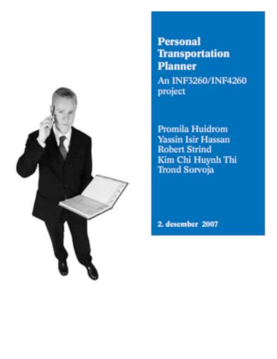personal transportation planner