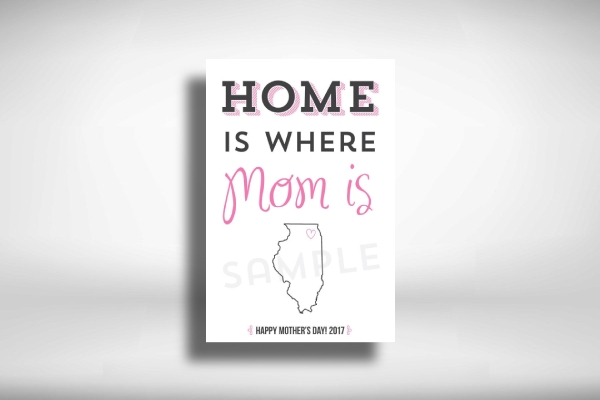 personalized mothers day poster