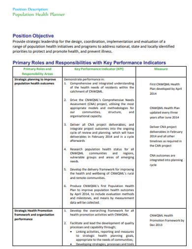 population health planner