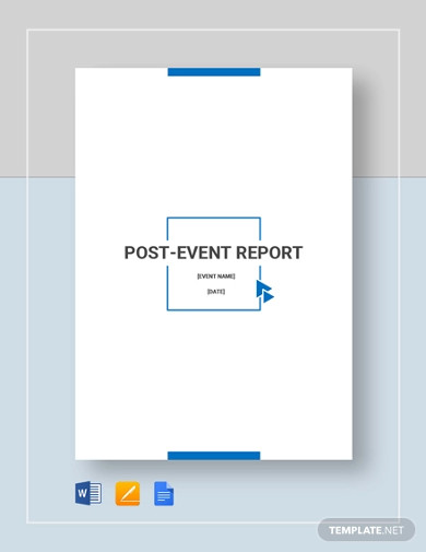 post event report template