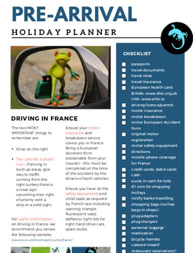 pre arrivel holiday planner