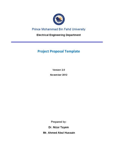 prince mohammad bin fahd university electrical engineering project proposal template