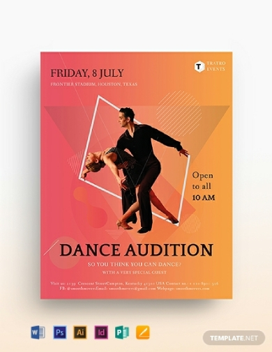 printable dance audition flyer