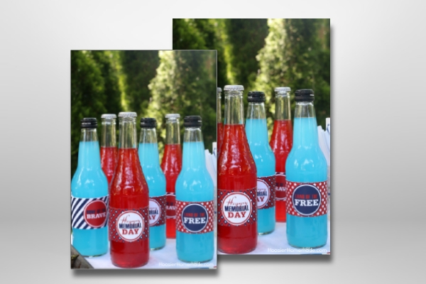 printable memorial day soda bottle label