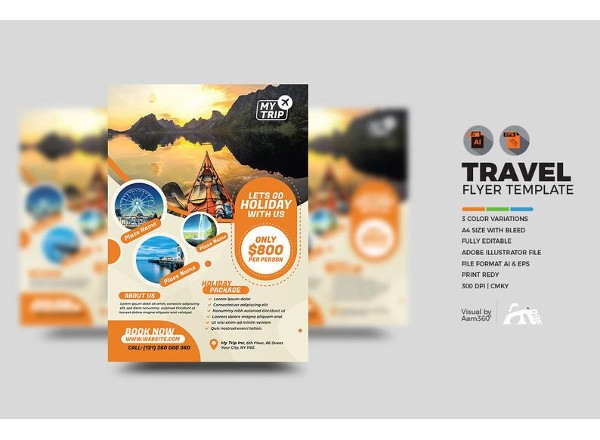 printable travel flyer