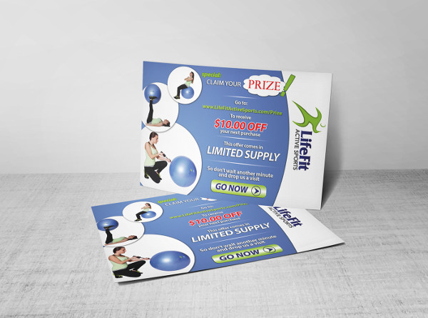 product marketing postcard