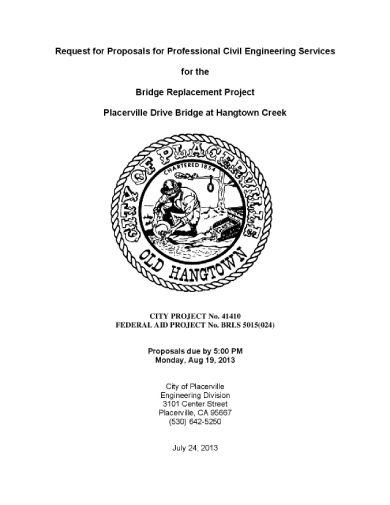professional civil engineering project proposals request sample