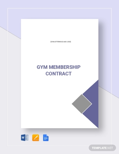 professional gym membership contract